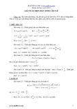 Giải toán trên máy tính cầm tay