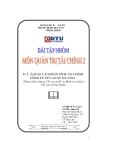 Đề tài: Báo cáo phân tích tài chính công ty CP cao su Đà Nẵng