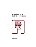 ECONOMICS OF BUSINESS OWNERSHIP