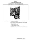 FUNDAMENTALS OF  AUTOMATIC TRANSMISSIONS