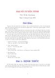 Giáo trình môn Toán: Đại Số Tuyến Tính