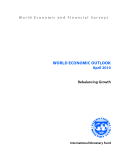 WORLD ECONOMIC OUTLOOK April 2010