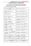 Các kỹ thuật giải toán tích phân