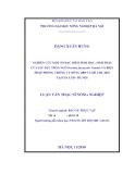 Luận văn Thạc Sỹ: Nghiên cứu một số đặc điểm sinh học, sinh thái học của sâu đục thân ngô và biện pháp phòng chống trong vụ Đông 2009 và vụ Hè Thu 2010 tai Hà Nội