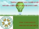 Bài thuyết trình môn Chiến lược và kế hoạch phát triển: Chiến lược quốc gia về cấp nước sạch và vệ sinh nông thôn đến năm 2020