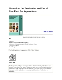 Manual on the Production ,Use of Live Food for Aquaculture