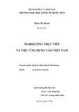 """Luận văn """" Marketing trực tiếp và việc ứng dụng vào Việt Nam """""""