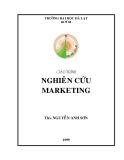 Giáo trình Nghiên cứu marketing - ThS. Nguyễn Anh Sơn