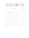 NHỮNG PHƯƠNG PHÁP HAY NHẤT ĐỂ THẤU HIỂU KHÁCH HÀNG