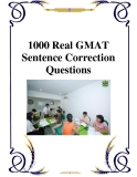 Tài liệu về 1000 Real GMAT Sentence Correction Questions