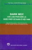 Danh mục các loại phân bón lá được phép sử dụng ở Việt Nam