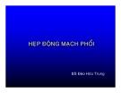 HẸP ĐỘNG MẠCH PHỔI  - BS Đào Hữu Trung