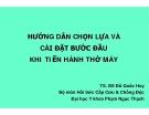 HƯỚNG DẪN CHỌN LỰA VÀ CÀI ĐẶT BƯỚC ĐẦU KHI TIẾN HÀNH THỞ MÁY - TS. BS Đỗ Quốc Huy