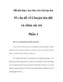 500 giải đáp y học theo yêu cầu bạn đọc - 93 vấn đề về Chuyện lứa đôi và chăm sóc trẻ