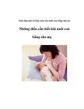 Giải đáp một số thắc mắc khi nuôi con bằng sữa mẹ