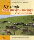 Ebook Kỹ thuật nuôi bò sữa - bò thịt ở gia đình - Gs PTs Nguyễn Văn Thưởng