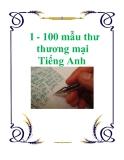 1 - 100 mẫu thư thương mại Tiếng Anh