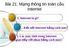 Mạng thôn tin toàn cầu Internet