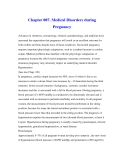 Chapter 007. Medical Disorders during PregnancY