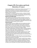 Chapter 078. Prevention and Early Detection of Cancer