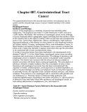 Chapter 087. Gastrointestinal Tract Cancer