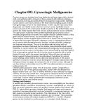 Chapter 093. Gynecologic Malignancies
