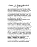 Chapter 108. Hematopoietic Cell Transplantation