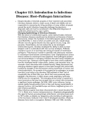 Chapter 113. Introduction to Infectious Diseases: Host–Pathogen Interactions