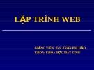 Lập trình Web - Trần Phi Hảo