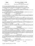 Đề thi thử đại học cao đằng môn hóa năm 2012_Đề số 006