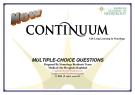 Continuum MULTIPLE-CHOICE QUESTIONS