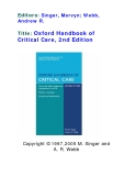 Oxford Handbook of Critical Care, 2nd Edition