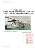 Thẩm định dự án nhà máy sản xuất giấy và bột giấy Quảng Nam