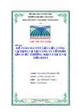 Kế toán nguyên vật liệu, công cụ dụng cụ tại công tu cổ phần sản xuất thương mại và dịch vụ Tiến Phát- dt tư vấn: 01689461033/ mọi thắc max xin lien lac voi tui