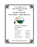 Tiểu luận: Sáp nhập và hợp nhất CTCP POMINA - THÉP THÉP VIỆT