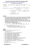Các chú ý và một số lời giải cho một số bài toán cơ bản