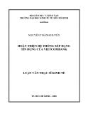Luận văn: Hoàn thiện hệ thống xếp hạng tín dụng của Vietcombank