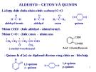 Tài liệu về Aldehyd và ceton