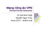 Mạng riêng ảo VPN - Võ Viết Minh Nhật vs Nguyễn Ngọc Thủy