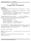 Hướng dẫn sử dụng Google Code và TortoiseSVN