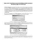 Cấu tạo hệ thống transfer protocol  để quản lý tập tin và thư mục