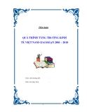 """Tiểu luận """" QUÁ TRÌNH TĂNG TRƯỞNG KINH TẾ VIỆT NAM GIAI ĐOẠN 2001 – 2010 """""""
