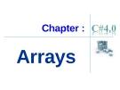 Chapter :  Arrays