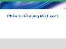 Phần 3. Sử dụng MS Excel