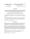 Quyết định số 377/QĐ-LĐTBXH