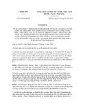 Nghị định số 14/2012/NĐ-CP