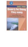 Giáo trình về quản lý hệ thống thủy nông tập 1