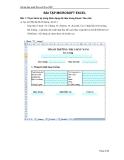 Bài tập thực hành Microsoft Excel 2007