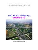 Giáo trình Thiết kế yếu tố hình học đường ôtô - PGS.TS. Bùi Xuân Cậy, ThS. Nguyễn Quang Phúc