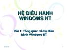 Bài 1: Tổng quan về hệ điều hành Windows NT
